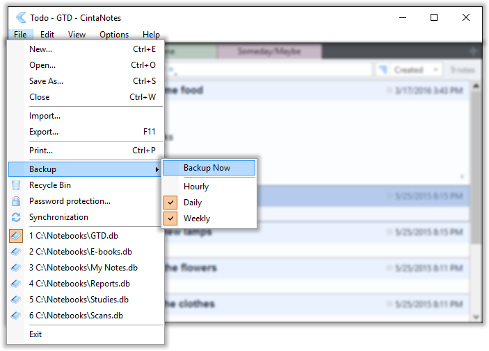 Securing your notes with the CintaNotes backup options