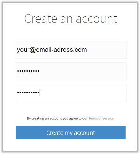 Signing up for a Simplenote account for notes syncing in CintaNotes